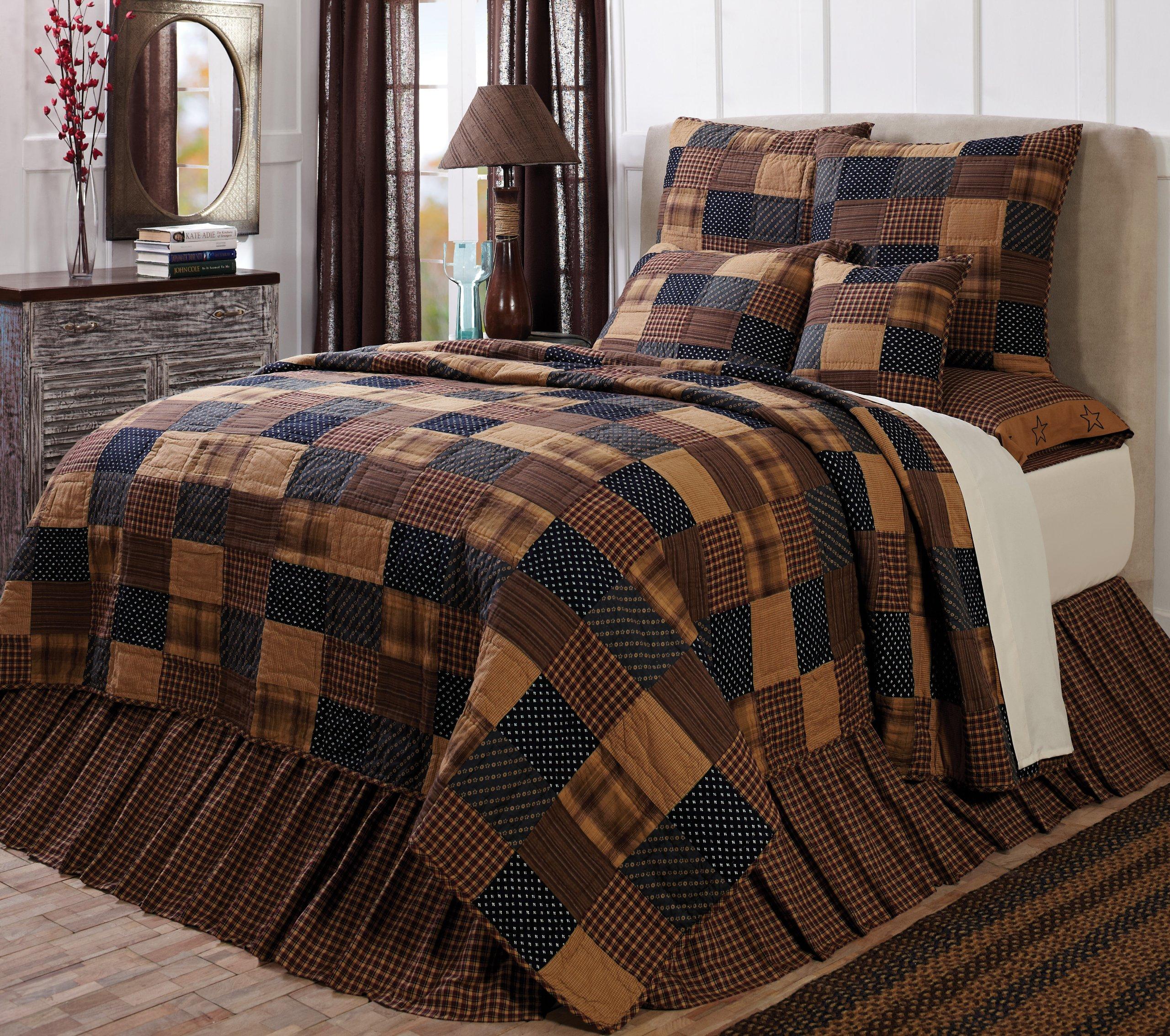 VHC Brands 10427 Patriotic Patch King Quilt 97 x 110