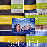Raymond Men's Cotton Unstitched Formal Pant and Shirt Fabric Multicolour_Shirt 2.25 M and Trouser 1.2 M(Set of 4)