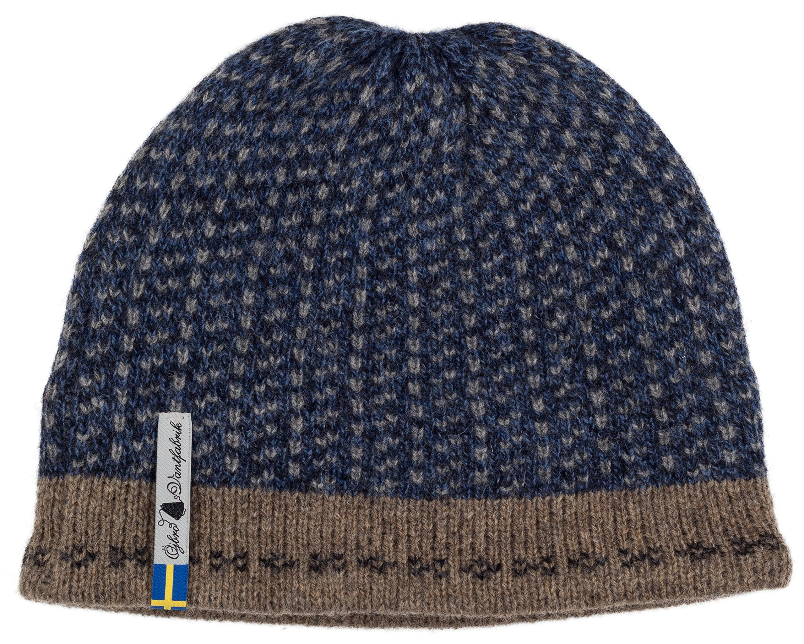 Swedish 100% Merino Wool Warm Soft and Thick Beanie Hat Cap (Skaftö Marin) by ÖJBRO VANTFABRIK (Image #1)