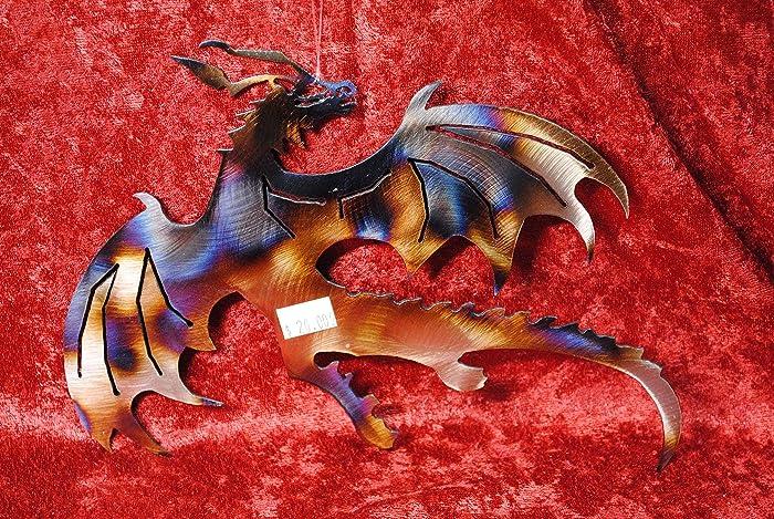 Amazon.com: Dragon, Flying Dragon, Metal Dragon Wall Art, Fantasy ...