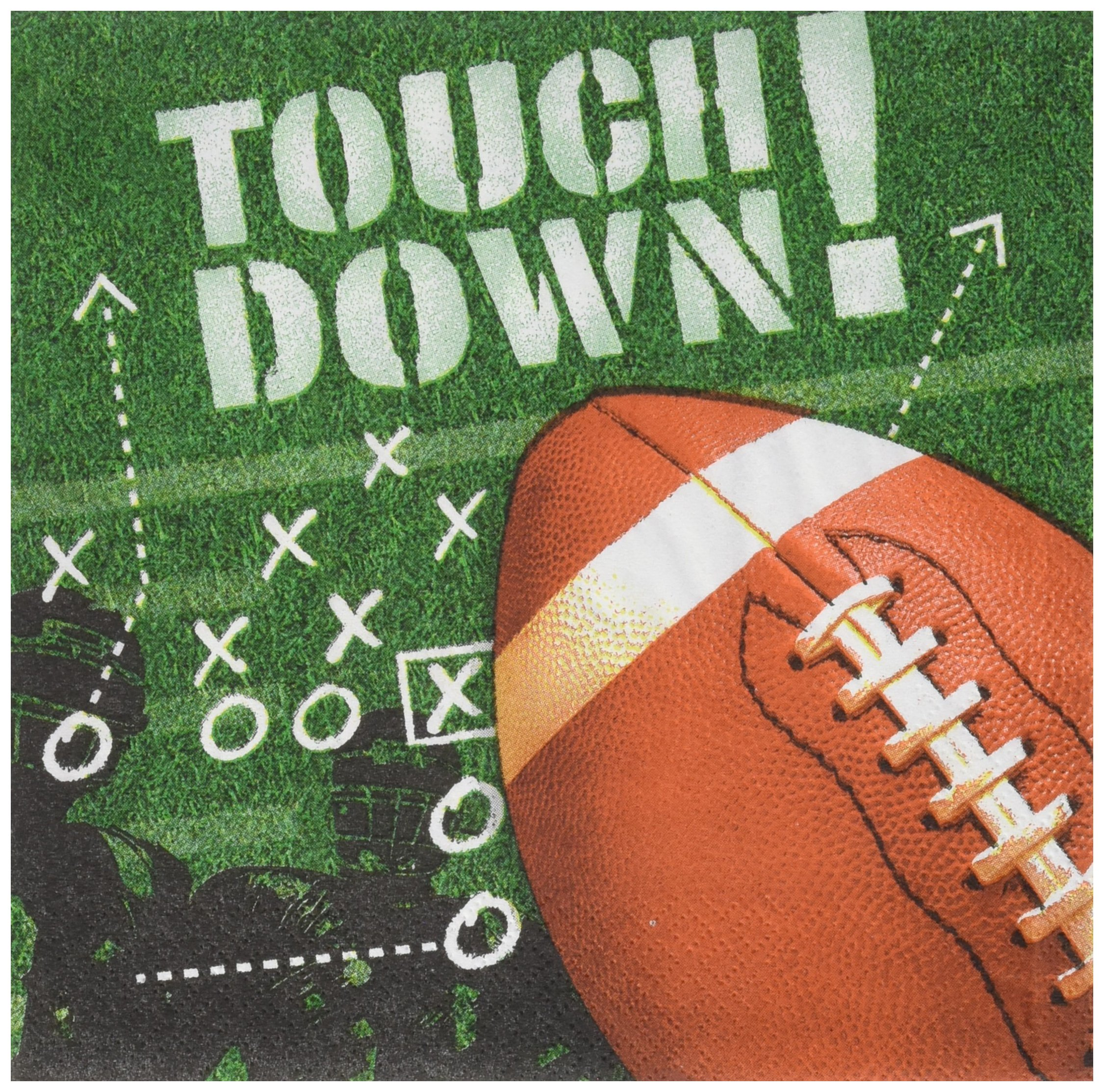 Amscan Football Frenzy Luncheon Napkins, 600 Ct.