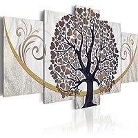 murando - Quadro 200x100 cm - 5 Parti - Quadro su tela fliselina - Stampa in qualita fotografica - albero amore ornamento astrazione b-C-0073-b-o