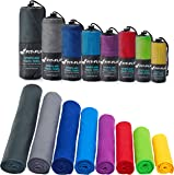 Fit-Flip Microfibre Towel in 12 Colours + Bag – small, lightweight and ultra absorbent – Microfibre Travel Towel, Beach Towel, Micro Towel, Sport Towel, Large XL Gym Towel