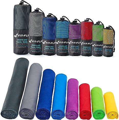 Fit-Flip Toalla de Microfibra en Todos los tamaños / 12 Colores - compacta,