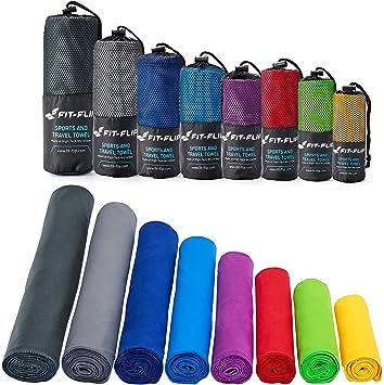 2615166dd1 Fit-Flip Serviette Microfibre dans Toutes Les Tailles / 12 Coloris - Serviette  Sport,