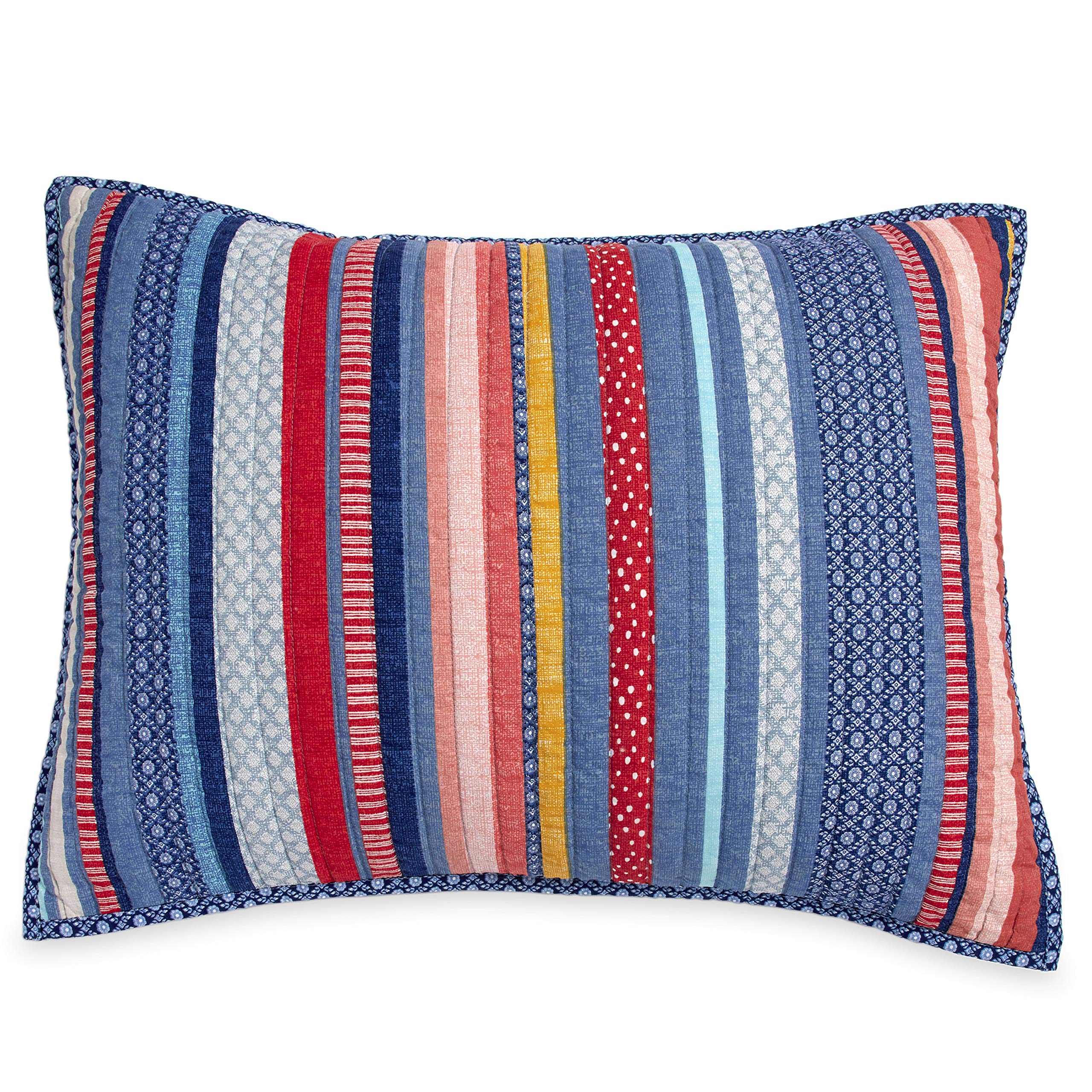 Bright Cheery Whimsical Knock Your Socks Off Easy Care Durable Charming Barn Dance Cotton Standard Sham Set - Uplifts and Adds Color to Any Room, Couch, Floor Or Space!