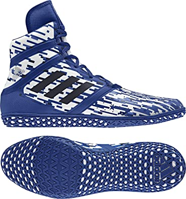adidas Impact Men's Wrestling Shoes, Royal Digital Print, Size 6