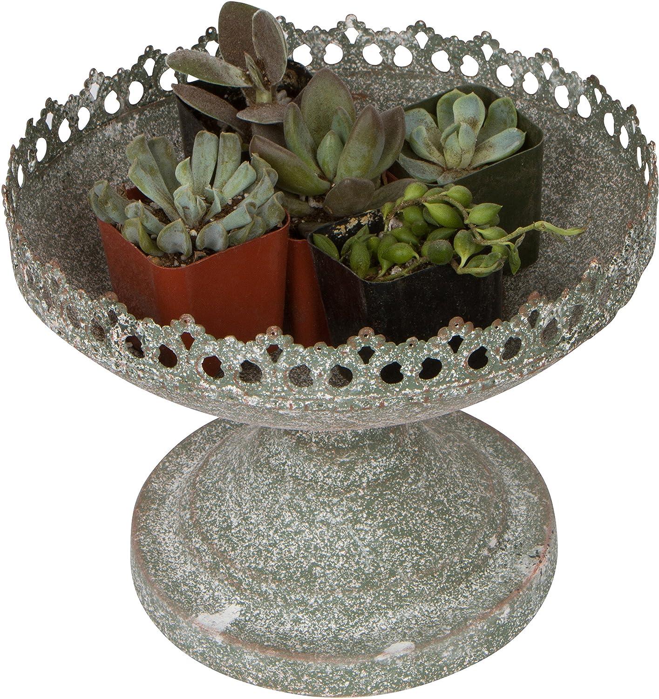Trademark Innovations 6.7 Diameter Decorative Tabletop Steel Urn Planter