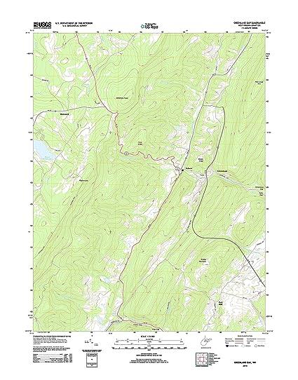 Amazon.com: Topographic Map Poster - GREENLAND GAP, WV TNM GEOPDF ...