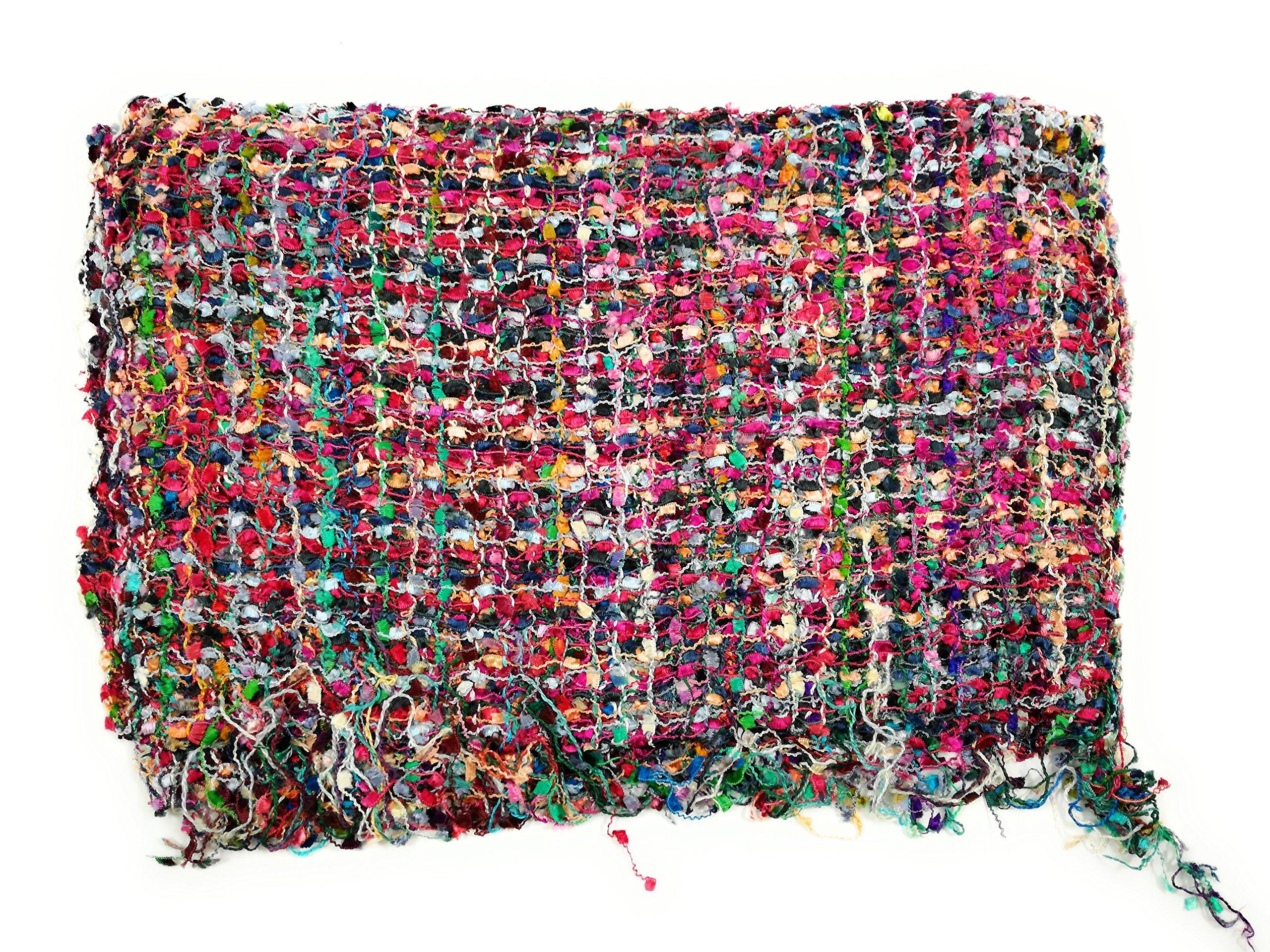 Handmade Fair Trade Confetti Neck Scarf (Rose)
