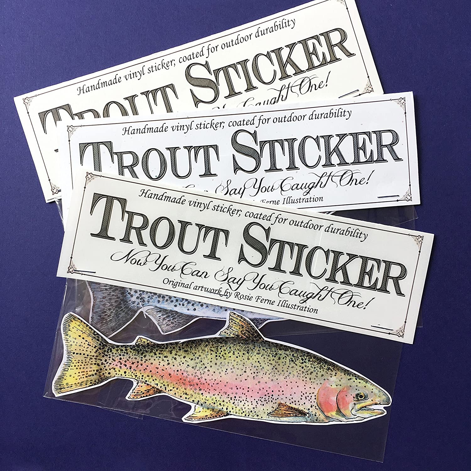 Vinyl Trout Stickers indoor//outdoor weatherproof giant decals