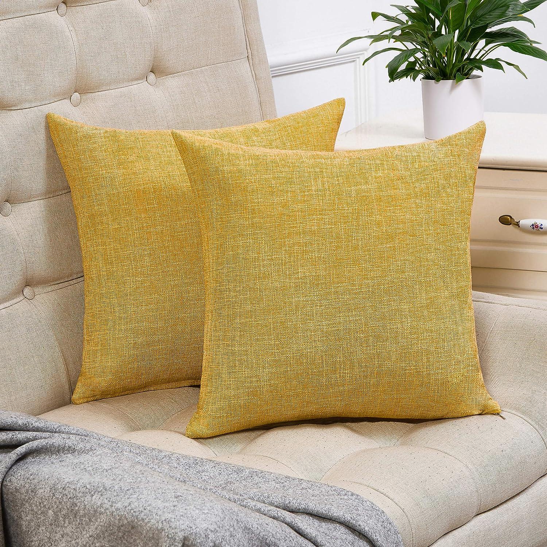 "14/"" 16/"" 18/"" New Cushion Cover Saffron Mustard Yellow Grey Geometric Handmade"
