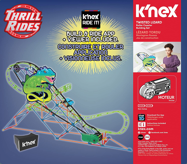 KNex Twisted Lagarto - Juego de montaña rusa: Amazon.es: Juguetes y juegos