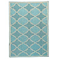 Furnish my Place Contemporary Geometric Trellis, Indoor and Outdoor Area Rug, Easy to Clean, UV Protected and Fade Resistant 1095, Ocean Blue