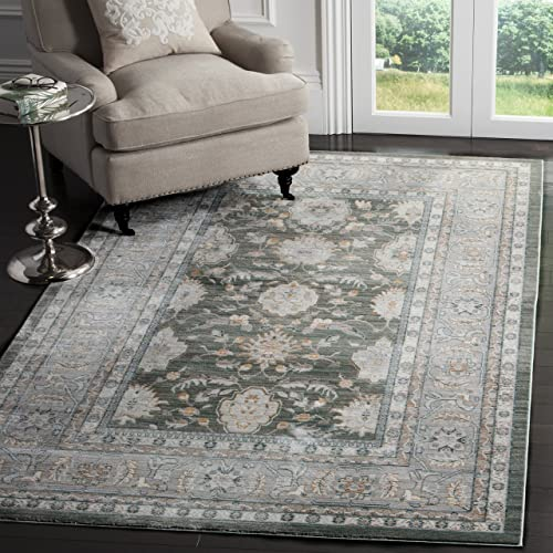 Safavieh Valencia Collection VAL112B Alpine and Mauve Vintage Distressed Silky Polyester Area Rug 3 x 5