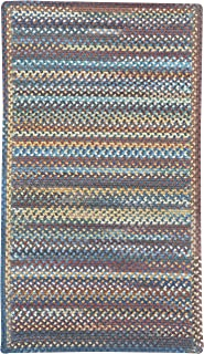 """product image for Capel Rugs Kill Devil Hill Cross Sewn Rectangle Braided Area Rug, 11 x 14"""", Medium Blue"""