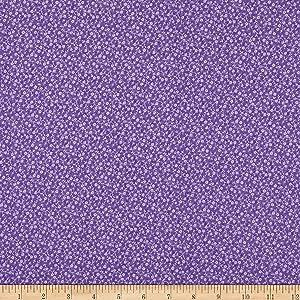 Westrade Textiles Westrade Cotton Blender Ditzy Fabric, Purple