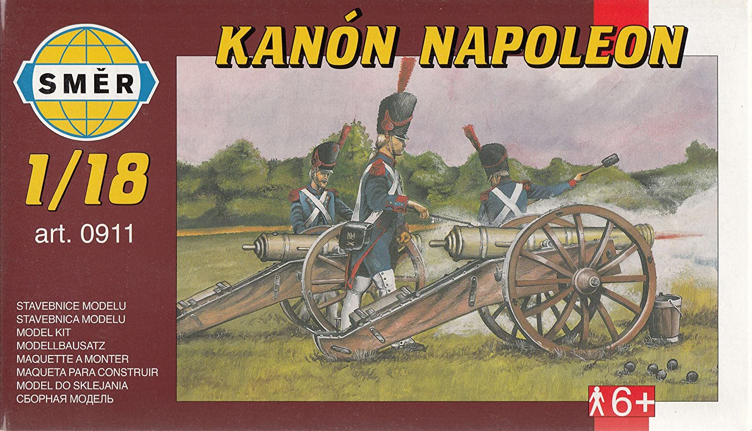 Amazon.com: SMR0911 1:18 Smer Kanon Napoleon MODEL KIT: Toys ...