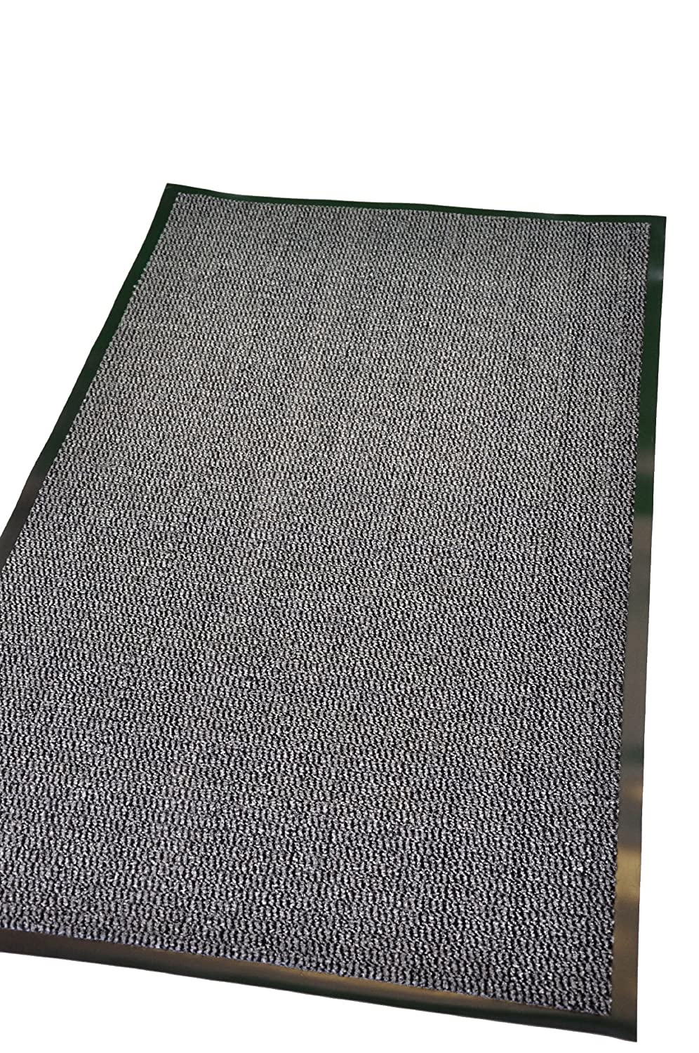 Extra Large Medium Small High Grade Top Quality Non Slip Door Mat Rubber Backed Runner Mats Rugs PVC 7mm thick Non Shedding Indoor / Outdoor Use 4 Colours 5 Sizes Made in EU AAA Grade & Quality Commercial Standard (Grey, 60x180cm (2x6')) 60x180cm (2x6