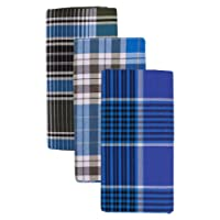Mersal Men's Poly-Cotton Checks Lungi/Sarong (Multi-Coloured, Set of 3) Assorted Checks or Color may Vary