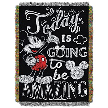 Disney Mickey Mouse Amazing Day Woven Tapestry Throw