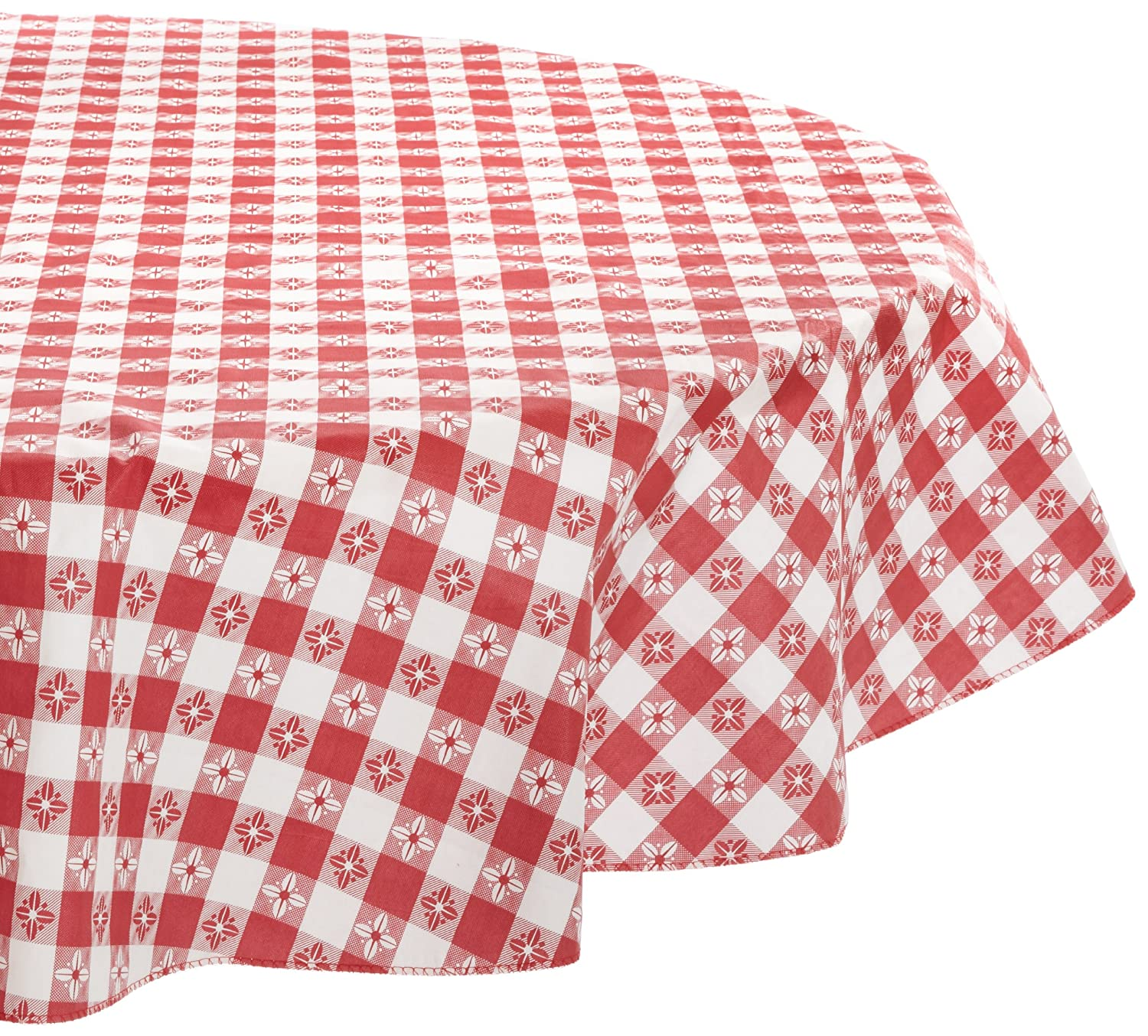 Amazon.com: Kane Home Products Eco Vinyl Tablecloth, Red Check, 60 Inch  Round: Home U0026 Kitchen