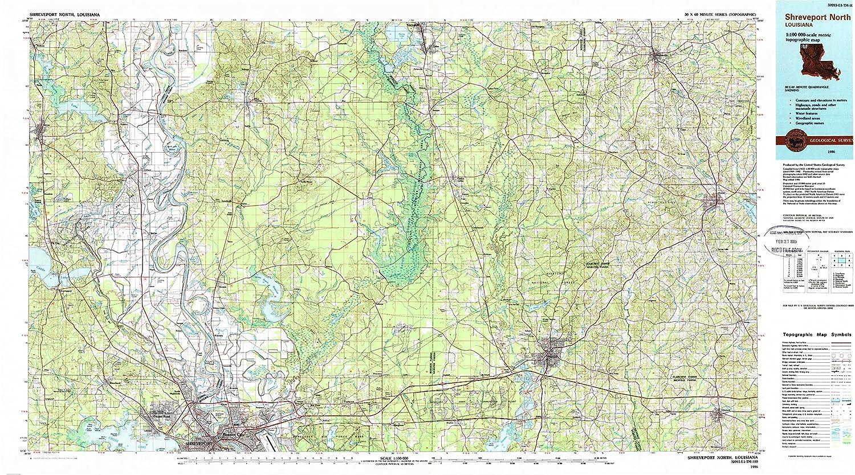 Geographic Map Of Louisiana.Amazon Com Yellowmaps Shreveport North La Topo Map 1 100000 Scale