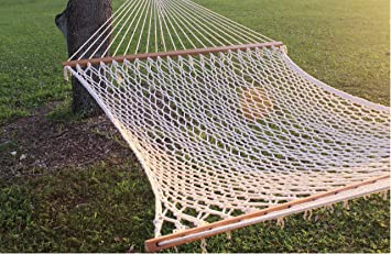 Medium image of 59 u0026quot  double wide soft cotton rope hammock that ac odates for two   great yard
