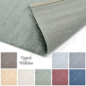 Designer-Teppich Pastell Kollektion   Flauschige Flachflor Teppiche fürs  Wohnzimmer, Esszimmer, Schlafzimmer oder Kinderzimmer   Einfarbig, ...