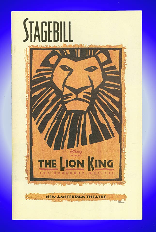 The Lion King, Broadway playbill + Heather Headley, Tom Hewitt, Samuel E. Wright, Tracy Nicole Chapman at Amazons Entertainment Collectibles Store