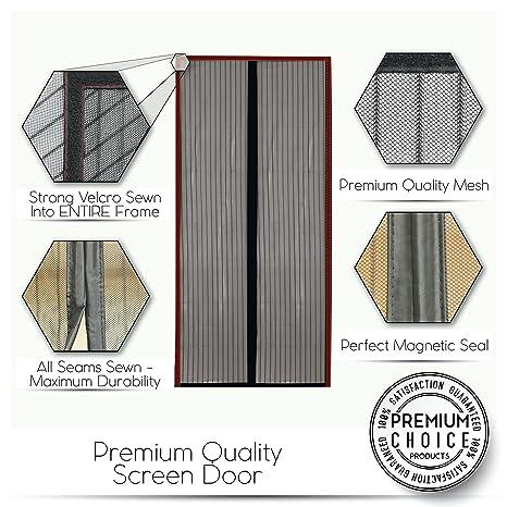 Mosquitera magnética para puertas - Nuevo diseño, Sin huecos, Manos libres; Instálela usted mismo. Cortina mosquitera que se cierra como magia.