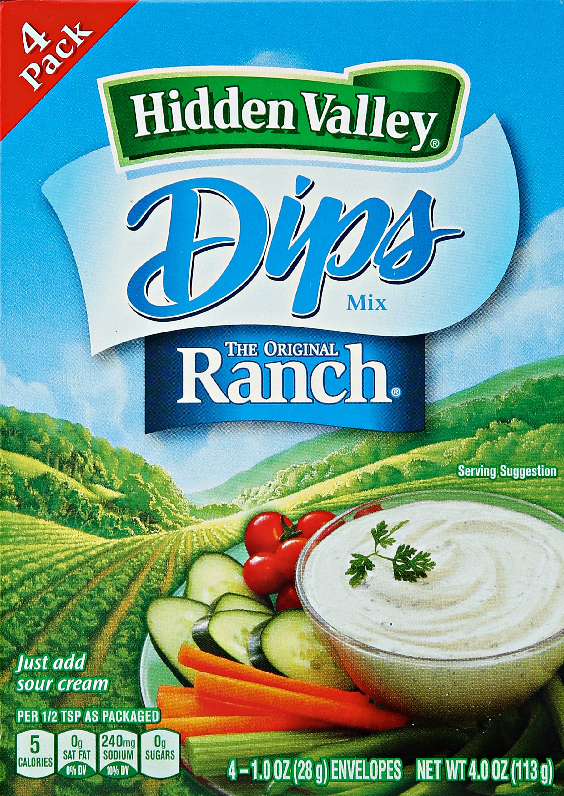 Hidden Valley Dips Mix - Original Ranch - 1 oz - 4 Count