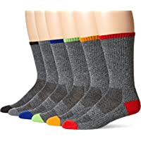 Chaps Men's Solid Casual Crew Socks with Accented Heel and Toe (6 Pack)