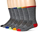 Chaps Men's Solid Casual Crew Socks with Accented