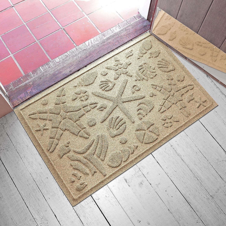 """AquaShield Beachcomber Doormat, 2"""" x 3"""", Camel"""
