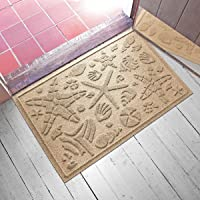 "Aqua Shield Beachcomber Doormat, Camel, 2"" x 3"""