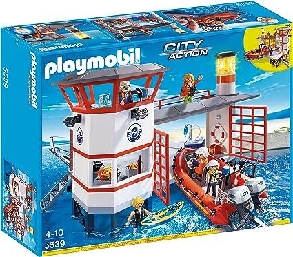 Amazon.com: Estación de Guardacostas de Playmobil con faro ...