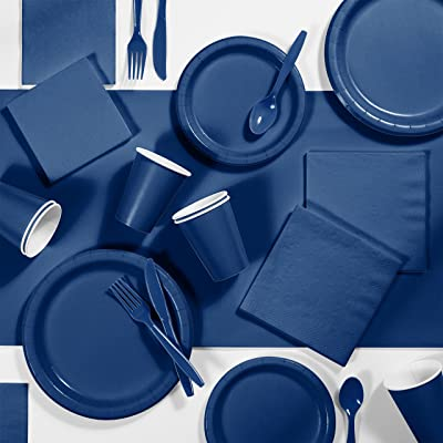 Navy Blue Party Supplies Kit, Serves 24: Health & Personal Care