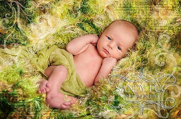 Green Baby Photography Prop Blanket 24x24 Soft Greens Newborn Photo Prop Blanket Hand Knit