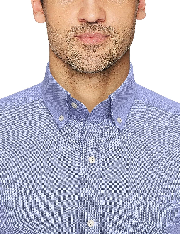 Camisa de vestir de tejido pinpoint de corte ligeramente entallado con cuello con botones de algod/ón Supima para hombre que no necesita planchado BUTTONED DOWN Marca