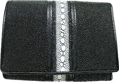 Stingray Men/'s Wallet Model Triple Pockets Genuine Leather Grey Handmade Special