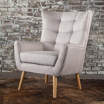 Temescal Living Room ~ Mid Century Modern Arm(Club) Chair (Wheat)