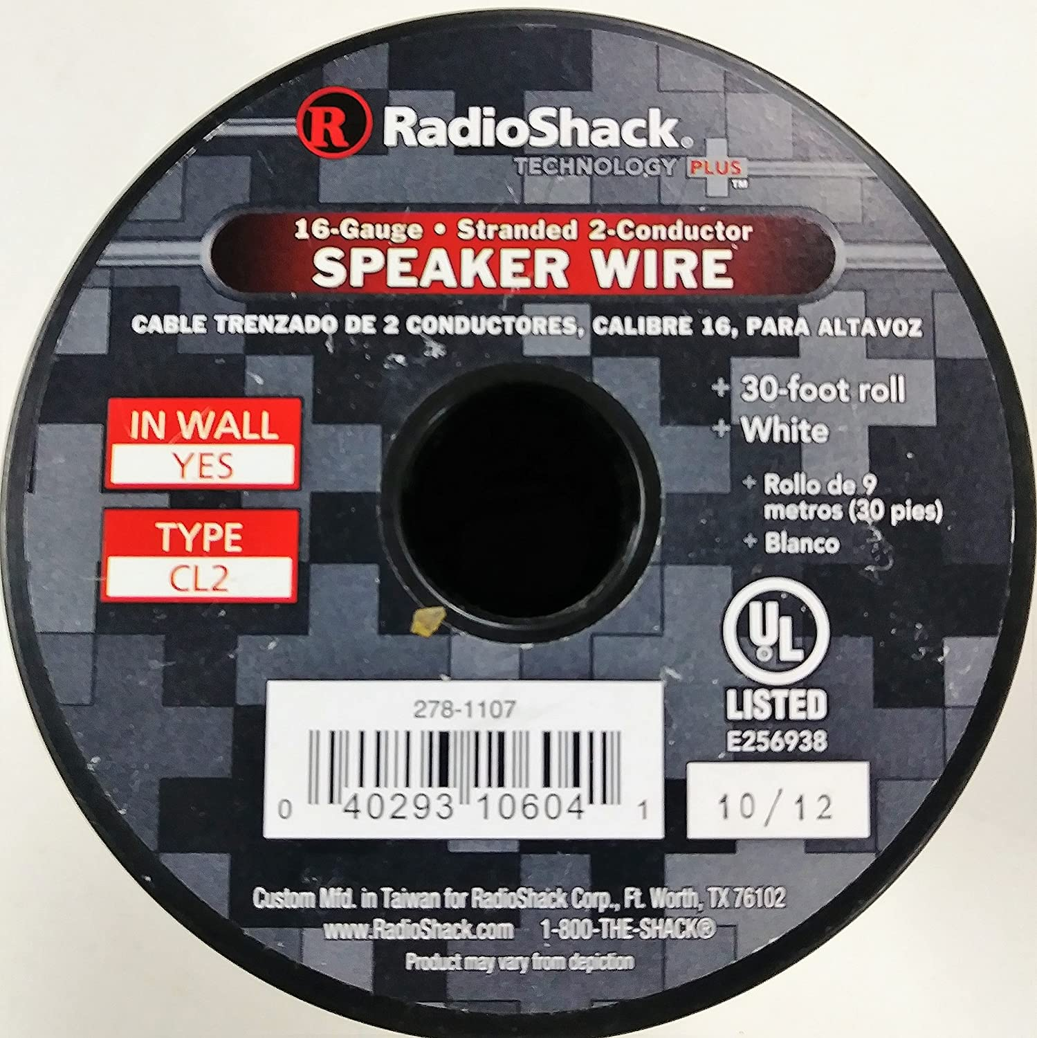 Amazon.com: 30-Ft. 16-Gauge White 2-Conductor Speaker Wire: Home ...