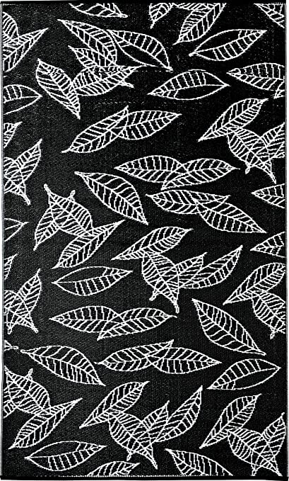 0ba19a261278 b.b.begonia Arctic One RV/Camping/Patio Mat Reversible Contemporary Leaf  Design Outdoor Area