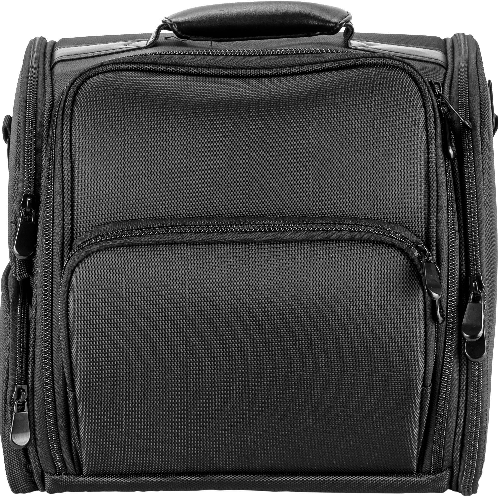 Hiker Hk3603 Soft Sided Professional Travel Makeup Case, Nylon Black