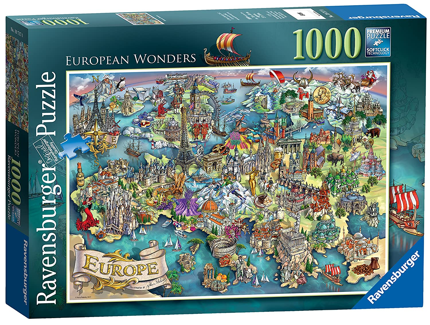 Ravensburger European Wonders 1000pc Jigsaw Puzzle Amazoncouk Toys Games