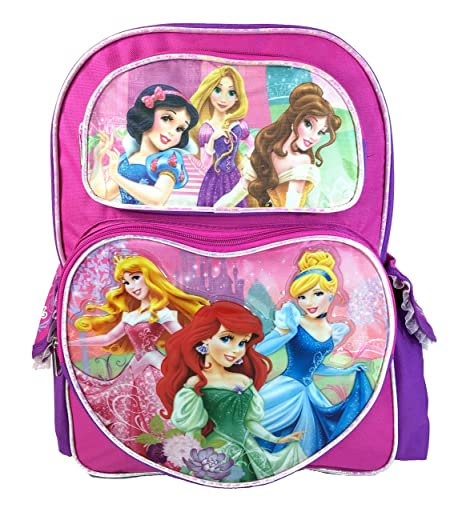 d8f49c1271b Image Unavailable. Image not available for. Color  Disney Princesses and  Rapunzel Backpacks 16 quot  Large for Kids