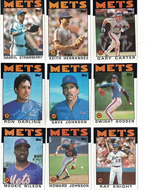 New York Mets Complete 1986 Topps Team Set 1986 World