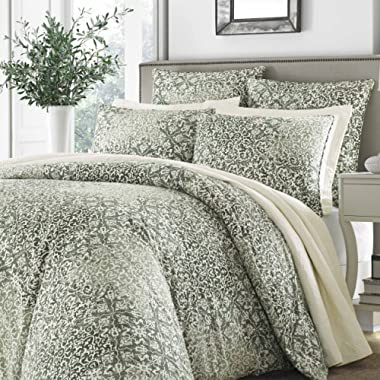 Stone Cottage Abingdon Comforter Set, Full/Queen, Dark Green