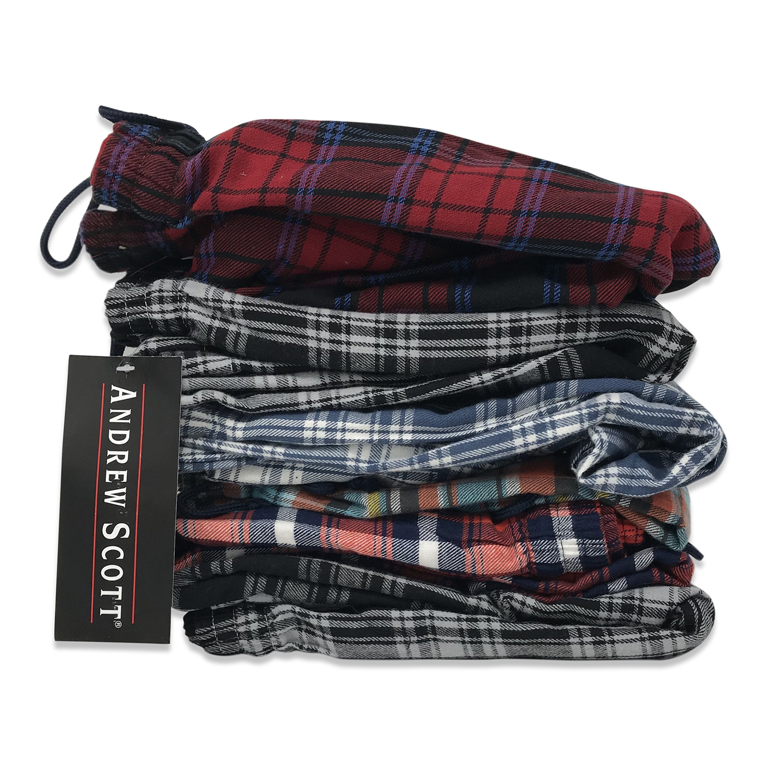 Andrew Scott Men's 3 Pack Cotton Flannel Fleece Brush Pajama Sleep & Lounge Pants (XL/40-42, 3 Pack - Classic Flannel Assorted Plaids) by Andrew Scott (Image #3)